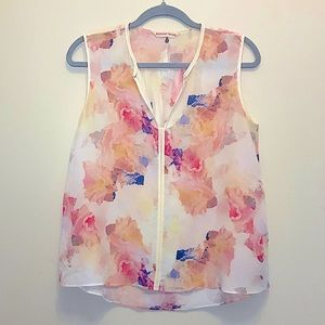 Rebecca Taylor Floral Sleeveless Blouse